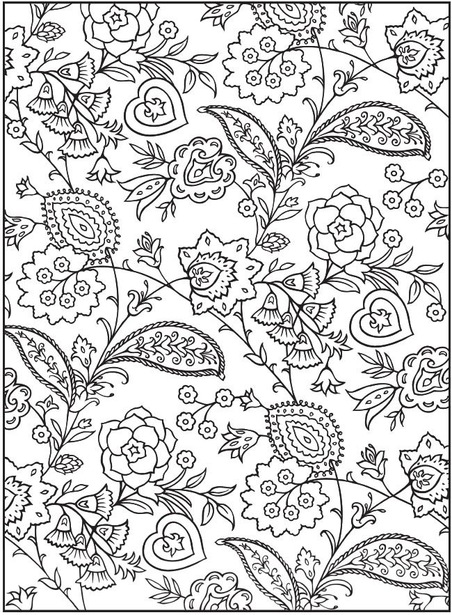 """From """"Creative Haven Paisley Design Collection Coloring Book"""" by Dover Publications  . . . . ღTrish W ~ https://www.pinterest.com/trishw/doodles/ . . . .  #doodle"""