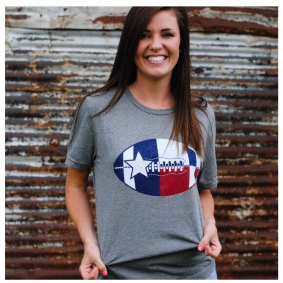 Football In Texas T-shirt Soft Style Unisex Style Red, White, Blue