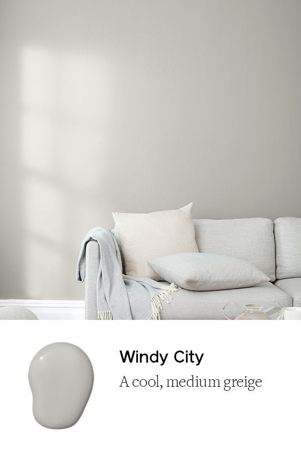 Windy City A Warm Light Gray Paint Color Clare In 2020 Greige Paint Colors Warm Grey Paint Colors Grey Paint Living Room