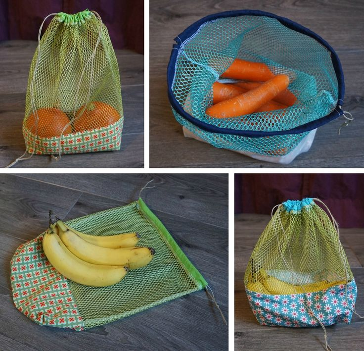Produce bag for the vegetables. I like the fact the bottom allows the bag the stand and that you see what is inside.