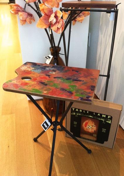 Artist palette side table $115
