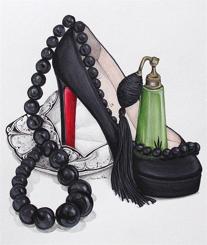 Открытка женщине туфли
