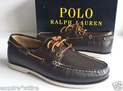 #men shoes boots for sale on ebay POLO Ralph Lauren men size 8.5 brown leather boat shoes BIENNE II Soft Tubled Le RalphLauren withing our EBAY store at  http://stores.ebay.com/esquirestore