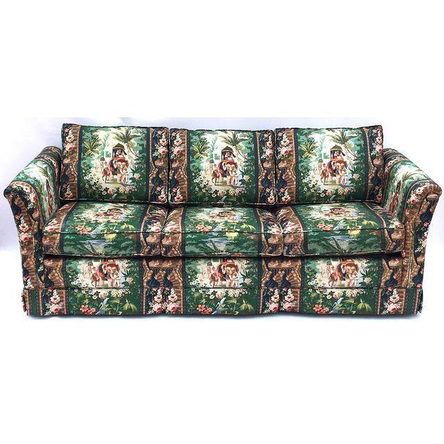 Image of Hollywood Regency Moroccan Tropical Elephant Sleeper Sofa