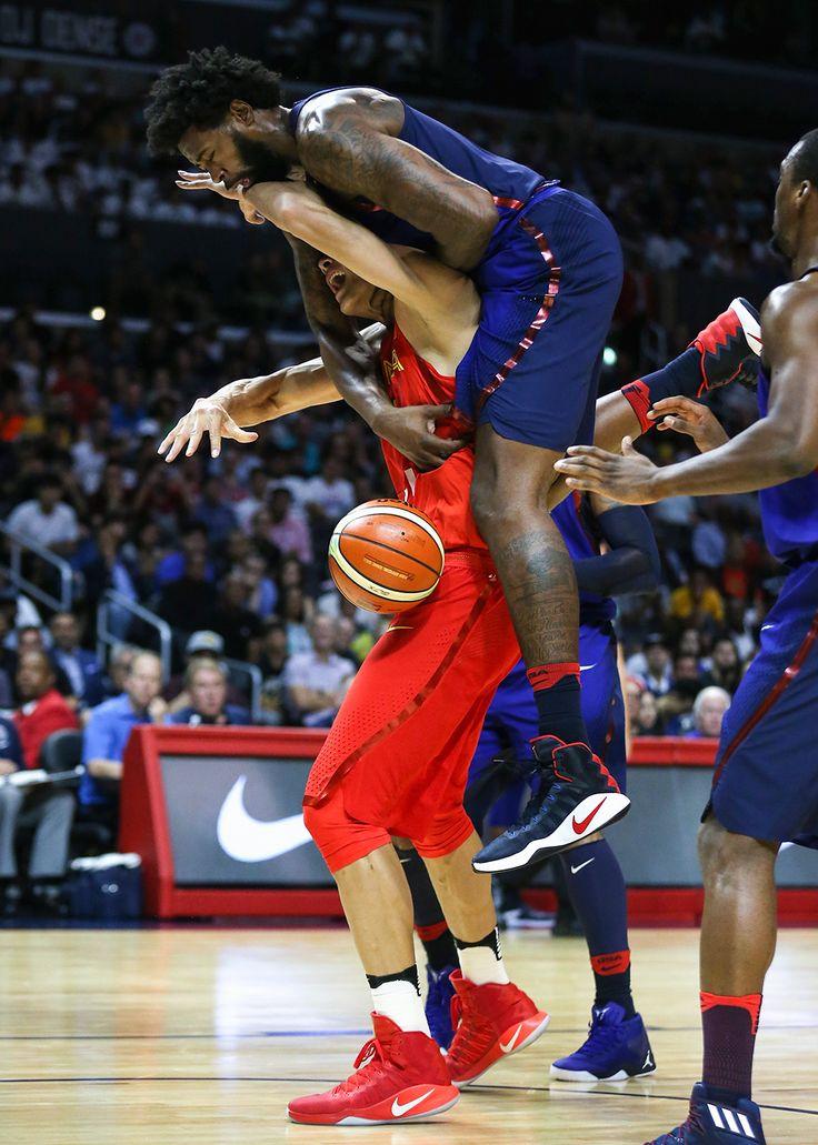 DeAndre Jordan and Yi Jianlian : USA Basketball Showcase: United States vs. China