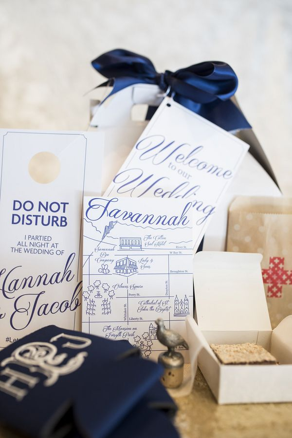 ... for Savannah wedding welcome bag success // Kelli Boyd Photography