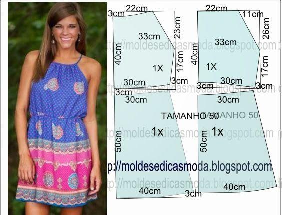Moldes Moda por Medida: VESTIDO FÁCIL DE FAZER-43