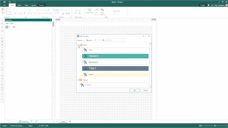 Reporting Tools: Open File with Styles and Collections