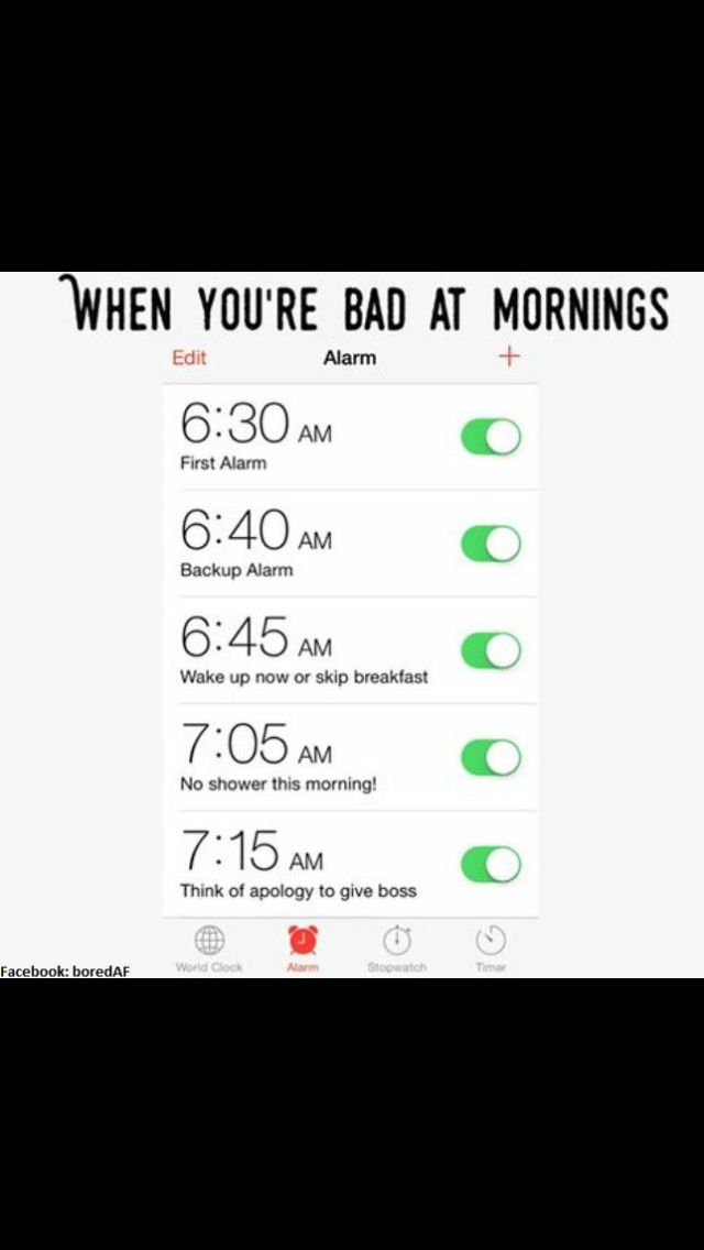 I have actually more allarm Clock's then him ... sooo i guess im Not Good at mornings either...