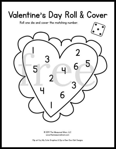 20 free & fun math games for preschool & kindergarten - Seasonal Roll & Cover! - The Measured Mom
