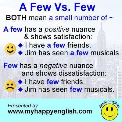 a few vs. few