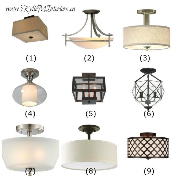 Ideas To Update Lighting On A Budget Using Flush Mount Light Fixtures In  Hallways, Entryways, Foyers And Bedrooms