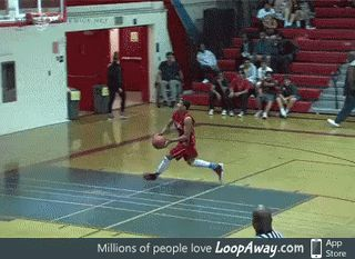 Failing the dunk at first