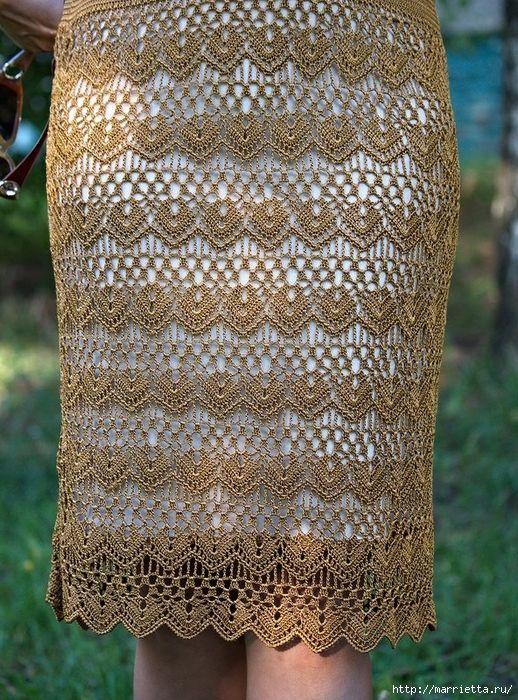 Крючком. Очень красивая ажурная юбка (6) (518x700, 462Kb)