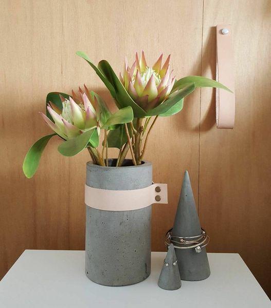 Image of Large Leather Vase