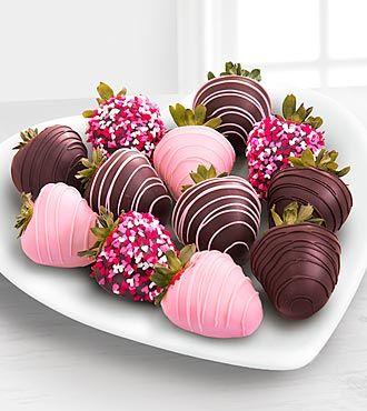 Valentines Chocolate Covered Strawberries - 12 Piece