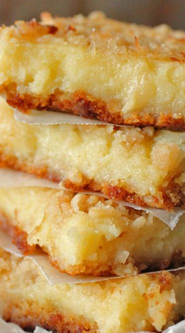 Lemon Coconut Gooey Butter Bars Recipe