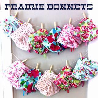 Little House on the Prairie pioneer bonnets Little House Week 2 Days 3-4