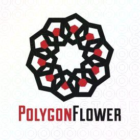 Exclusive Customizable Logo For Sale: Polygon Flower | StockLogos.com