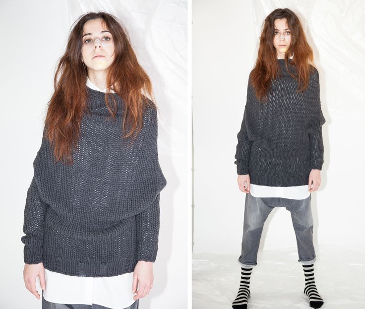 Monday mood!!  #Sweater #over #grey MAURIZIO   Cucù Lab Fall Winter 14/15  LOOK HERE http://www.cuculab.it/prodotto/559/MAURIZIO.html