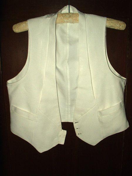 515.11 kr. Vintage Edwardian 1920's Men Vest White by TheGatheringVintage