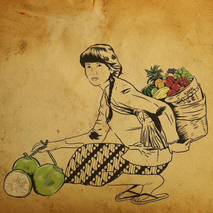 Javanese Women selling Fruits