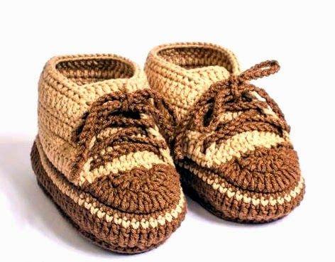 tejidos artesanales en crochet: como tejer zapatitos en crochet paso a paso, Step by step baby booties.