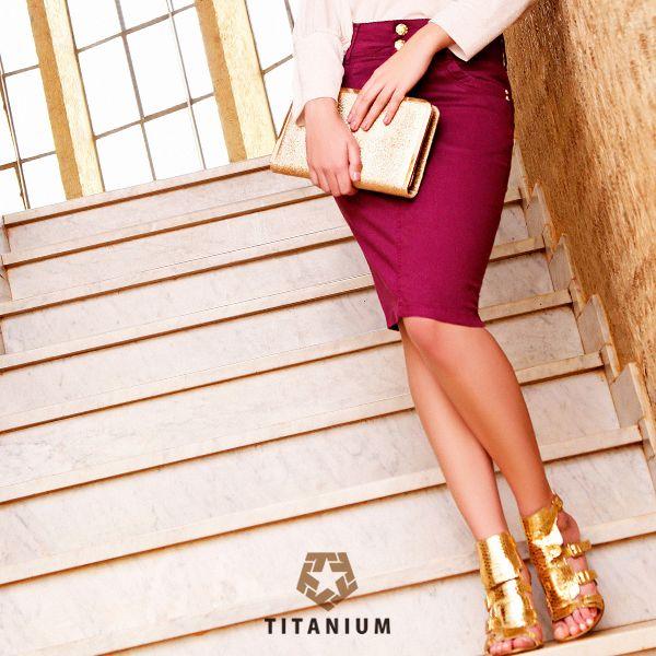 Saia Titanium com a cor desejo do momento!