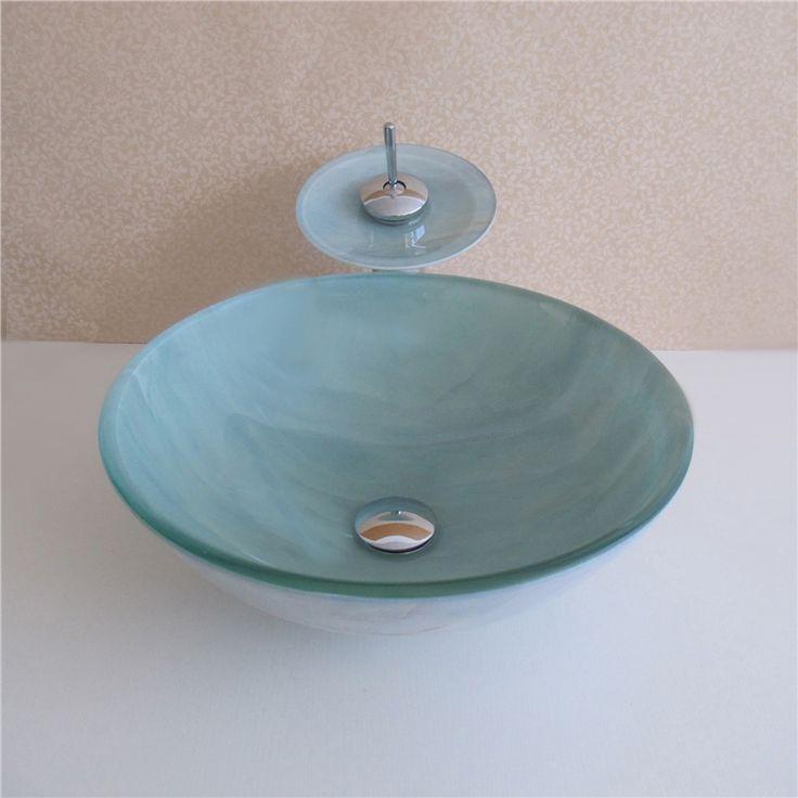 彩色上絵洗面ボウル&蛇口セット 洗面台 洗面器 手洗器 手洗い鉢 洗面ボール 排水金具付 HT0436