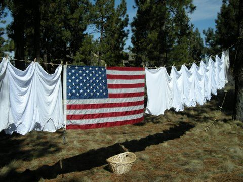 flag: Clotheslines, American Flags, Clothesline And American Flag, Stripes, 4Th, Taylors, Country Clothesline