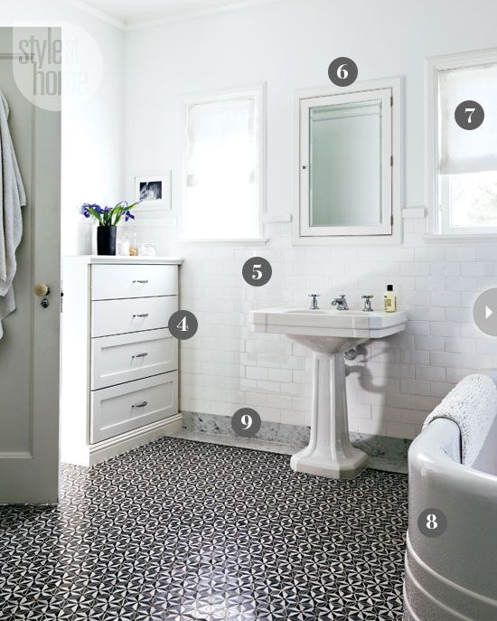 Black And White Retro Bathrooms 19 best bathroom design inspiration images on pinterest | home