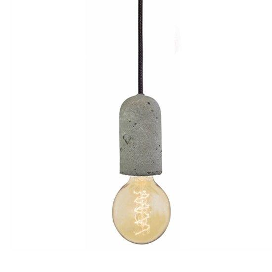 betonnen lampje NUD collection zwart