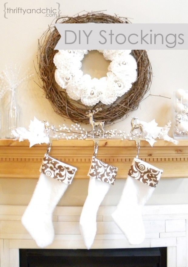 How to sew your own stockings - 18 Great DIY Christmas Ideas for Enhancing the Christmas Spirit