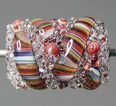 Red Lampwork  Bead SALE by RonsickOriginals on Etsy