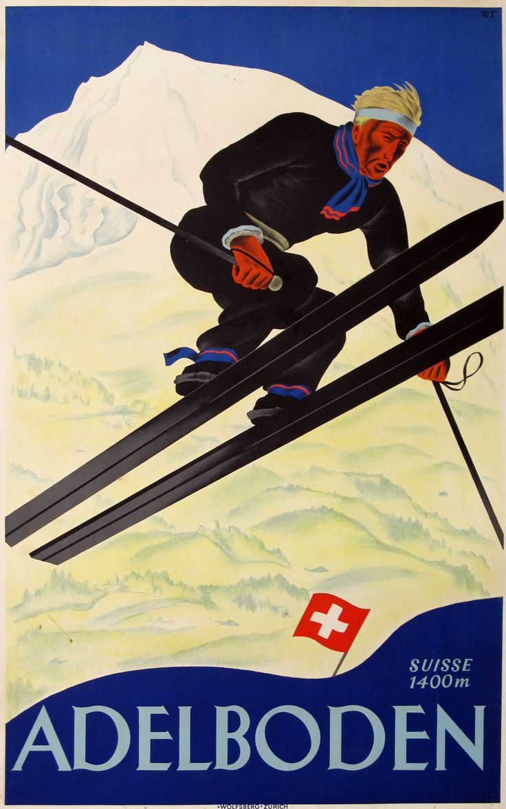 "Original ""Adelboden"" Poster by Trapp, 1928"
