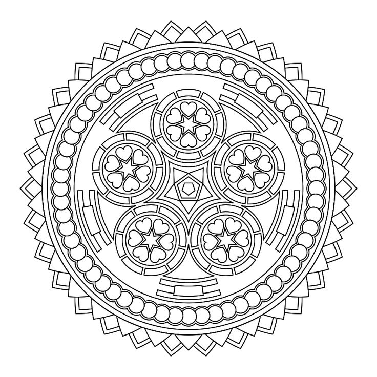 free printable mandala colouring for pain management and art therapy - Art Therapy Coloring Pages Mandala