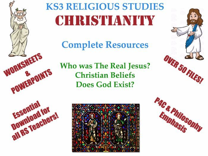 Zip file includes 3 units, created over 3 years teaching Religion & Philosophy at KS3 Level.<br /> I have attached some PPT files to indicate the quality of the presentations and work.<br /> <br /> The Zip files includes over 50 files, including works...