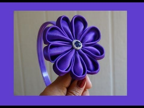 How to make fabric flower for headbands.