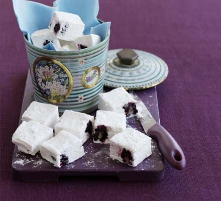 Good Food reader Natasha Lee gives marshmallows a seasonal twist by adding blackberries, for a sweet, homemade gift