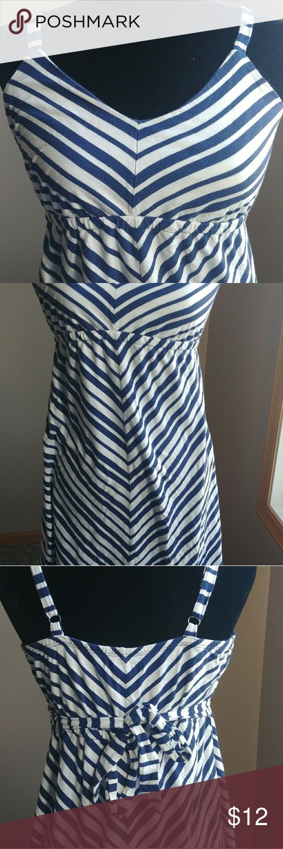 Old Navy Maternity Dress White with blue stripes Old Navy Maternity dress. Size small Stretchy material. Nice and flowy, comfy dress. Old Navy Other