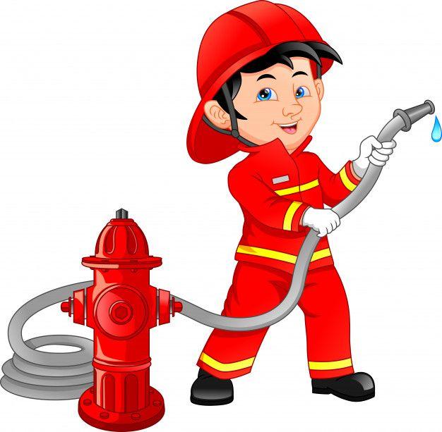 Young Boy Wearing Fire Fighter Cartoon Firefighter Cartoon Clip Art Firemen Pictures