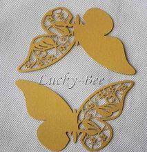 72 шт / много желтой бумаге лазерной резки бабочка чашки карточка торты чашки торт плесени бумаги выпечки в течение торты кекс лоток(China (Mainland))