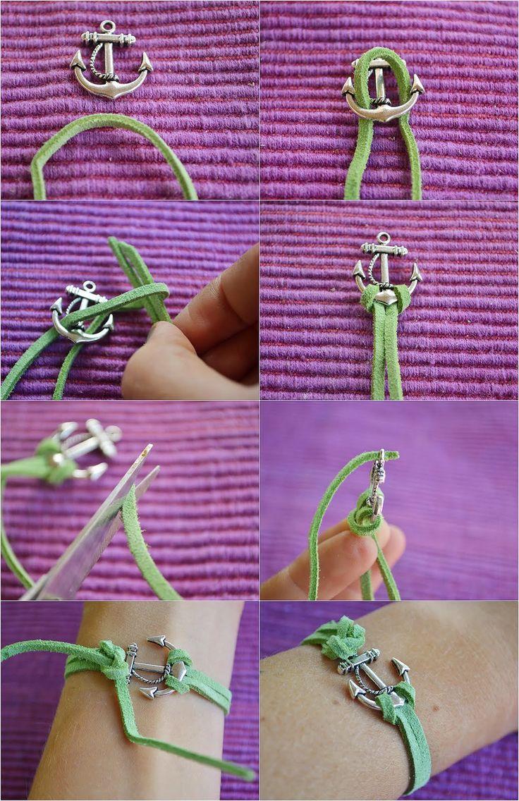 diy: anchor bracelet (@Wendy Felts Felts Felts Felts Lady H)