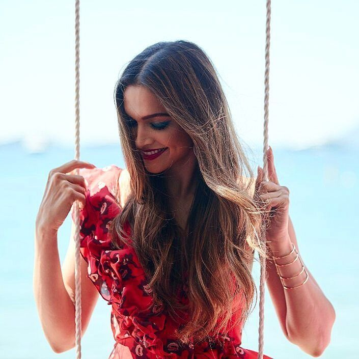 Deepika Padukone at the L'Oreal Paris press interview on May 17, 2017 #Cannes2017