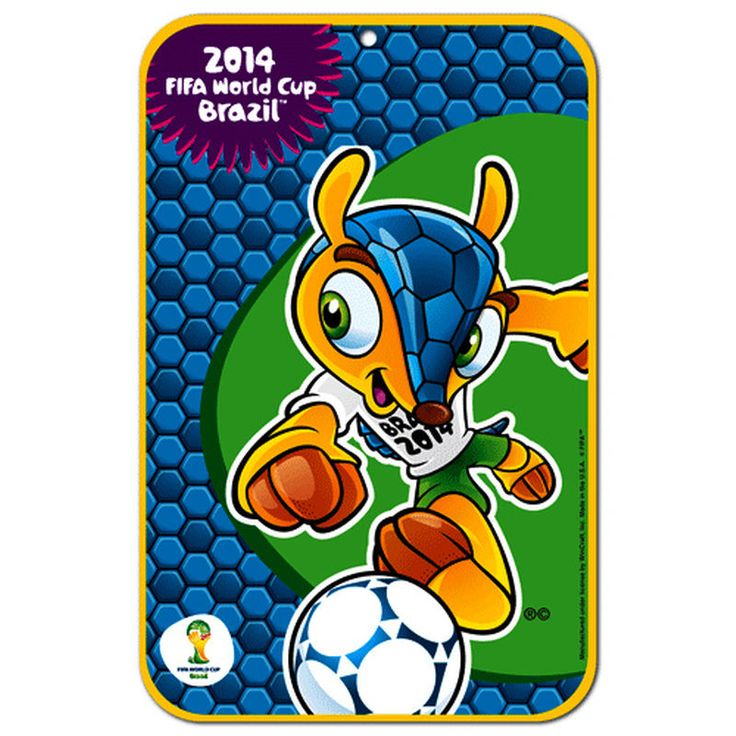 """FIFA 2014 World Cup 11"""" x 17"""" Fuleco Sign"""