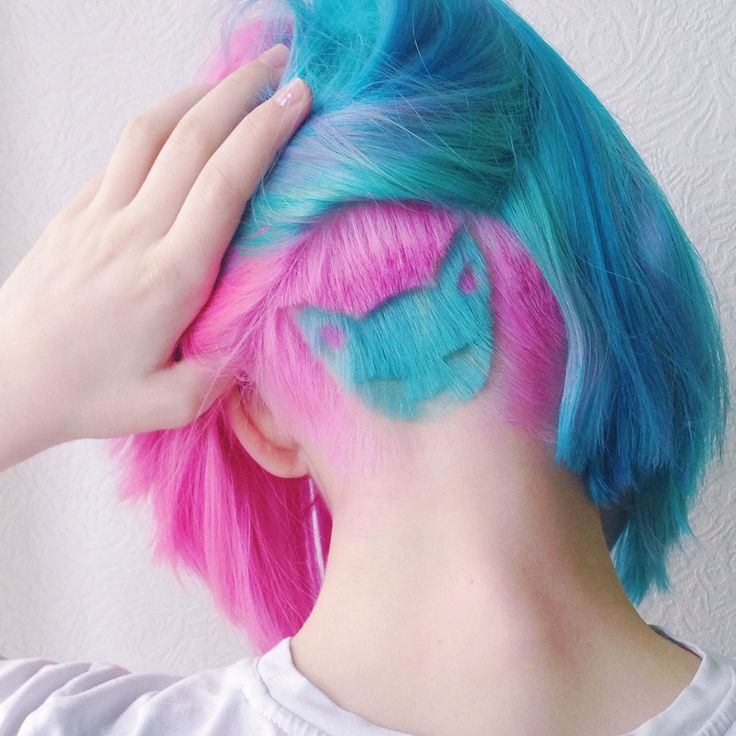 This Rainbow Hair Trend Is About To Be Huge #refinery29  http://www.refinery29.com/2016/04/107868/rainbow-hair-undercuts#slide-3  Katichka tells us that her latest 'do was inspired by the clothes she and her boyfriend sell, singer Melanie Martinez, and her 9-month-old Sphinx, Maggy (of course). ...