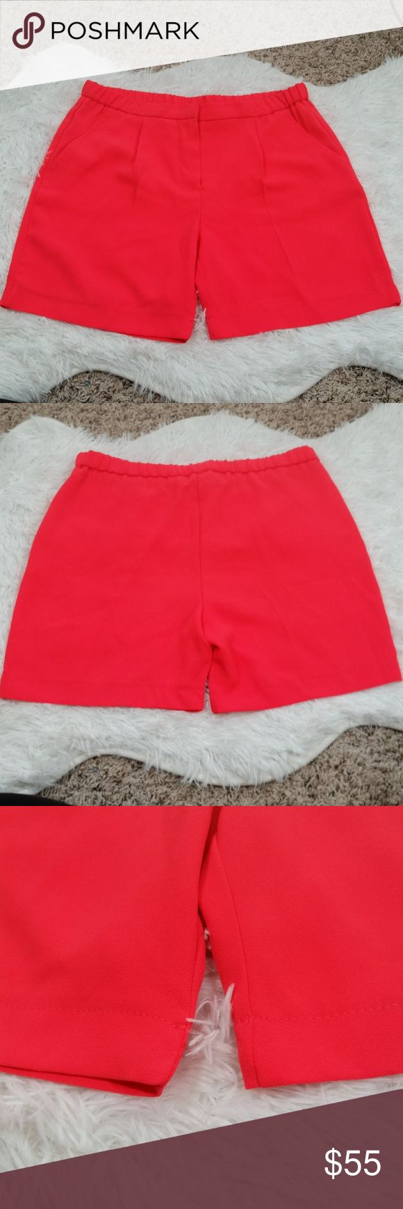 """Trina Turk Hot Pink Neon Daulton Shorts #126 Hi Guys! I'm Selling these Super Cute Trina Turk Daulton Shorts! In Great Condition. smooth zipper and hook closure with elastic on the back. Waist 15.5: flat. Hem 10.5"""" flat. Front Rise 10"""". Back Rise 14.5"""". vibrant pink great for summer and spring! Trina Turk Shorts"""