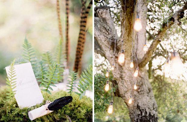 dekoracje wesele w ogrodzie w lesie