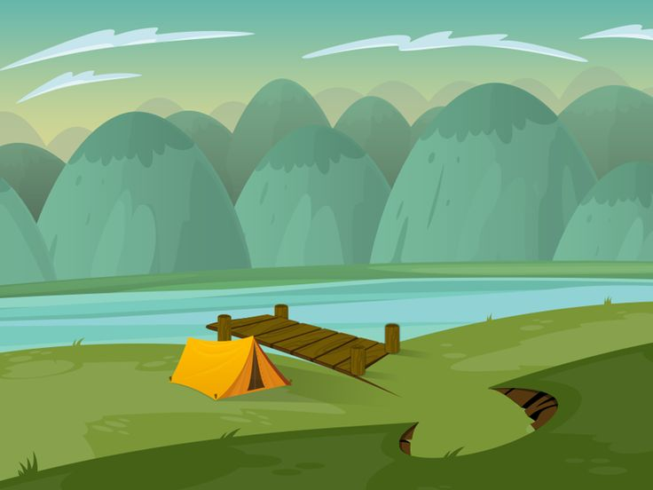 Illustration camping 2 by Sebastián Falasca