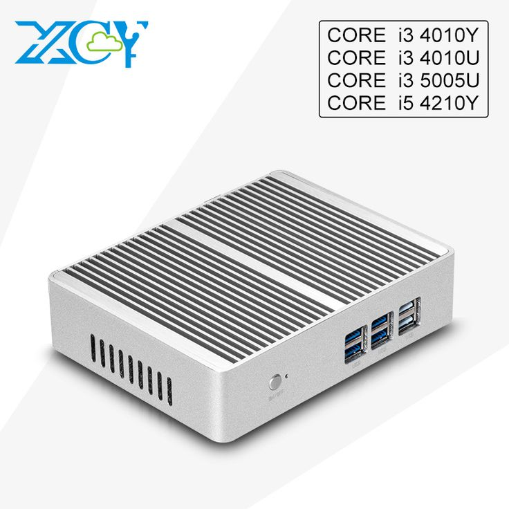 XCY Dual core i3 5005u 4010u 4010y i5 4210y Fanless Mini PC USB3.0 WIFI Micro computer Desktop HTPC TV BOX HDMI